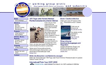 Website of the Working Group Arctic and Subarctic